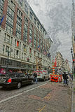 View of Macys Department store in Herald Square Manhattan Stock Image