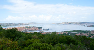 The view on maddalena archipelago Stock Photo