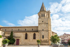 View at the Madeleine church in Beziers - France Stock Photos