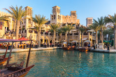 View of Madinat Jumeirah hotel in Dubai Royalty Free Stock Photography