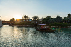 View of Madinat Jumeirah hotel in Dubai Royalty Free Stock Images