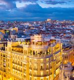 Madrid aerial view, Spain Royalty Free Stock Images