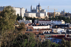 View of Madrid City, Spain Royalty Free Stock Photos
