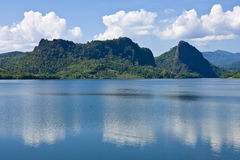 View of Mae Kaung dam, northern Thailand Stock Photo