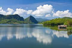 View of Mae Sarauy dam, northern Thailand royalty free stock photography