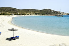 View of Maganari beach, Ios island, Greece Stock Image
