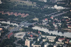 View of Magdeburg - Jerusalembruecken Stock Image