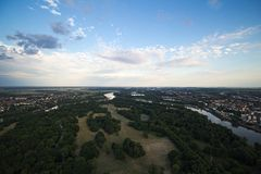 View of Magdeburg Rotehorn Park Royalty Free Stock Photos