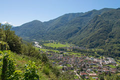 View of Maggia stock images
