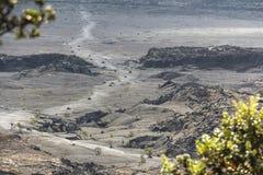 View on magma lake from jungle trail, Hawaii Big Island. View on magma lake from jungle trail on Hawaii Big Island Royalty Free Stock Image