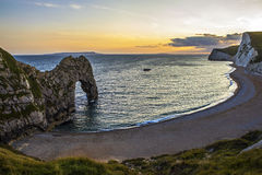 Durdle Door in Dorset. A view of the magnificent Durdle Door along the Jurassic coast in Dorset, UK royalty free stock photos