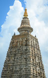 View of the Mahabodhi Temple in Bodhgaya, India Royalty Free Stock Photography