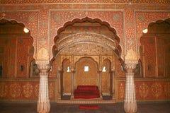 View of Maharajah rooms of Junagarh Fort. Exploring the delights of Junagarh Fort, Bikaner Stock Photo