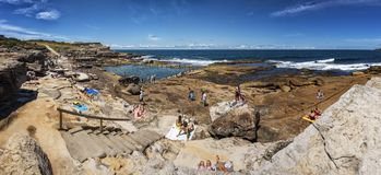 The famous Mahon Pool, Maroubra NSW Australia Stock Images
