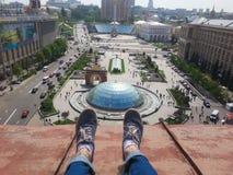 View of Maidan Nezalezhnosti Square. Kiev, Ukraine Stock Photos
