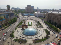 View of Maidan Nezalezhnosti Square. Kiev, Ukraine Stock Photography