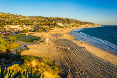 View of the Main Beach Park from cliffs  Royalty Free Stock Images