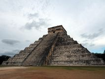 The Castle, the pyramid of Chichen Itza. Stock Photos