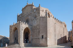 View of the Main Cathedral of Erice, province of Trapani. Sicily, Italy Stock Photos