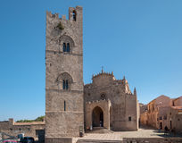 View of the Main Cathedral of Erice, province of Trapani. Sicily, Italy Royalty Free Stock Image