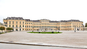 View from main entrance of Schonbrunn Palace Stock Photo