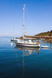 View of the main ferry of Sauzon in the island - Belle Ile en Me Royalty Free Stock Photography