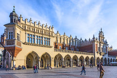 View of main market square from Cloth Hall building Stock Photos