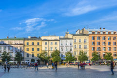 View of main market square from Cloth Hall building Royalty Free Stock Image
