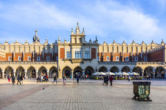 View of main market square from Cloth Hall building Royalty Free Stock Photos