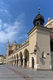 View of main market square with renaissance sukiennice in cracow in poland Royalty Free Stock Photos