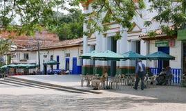 View of the main plaza in Hispania, Antioquia, Colombia stock photo