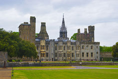 View of Main range of Cardiff Castle in Cardiff Stock Photos