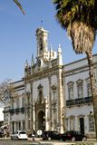 Arc of the Vila. View of the main recreational plaza and Arc of Vila on the city of Faro, Portugal Stock Image