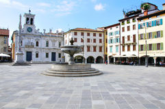 View of the main square of Udine historical centre Royalty Free Stock Image