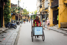 View of the main street in Hoi An, Vietnam Royalty Free Stock Images