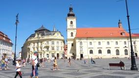 View of main town square Piata Mare in Sibiu