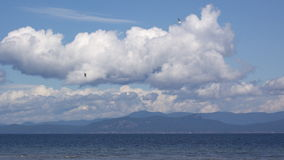 View of mainland from Parksville Royalty Free Stock Photos