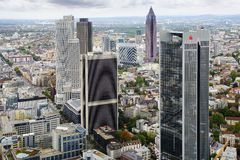 Panorama of Frankfurt am Main, Germany. Royalty Free Stock Photo