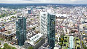 Panorama of Frankfurt am Main, Germany. Stock Photography