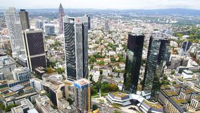 Panorama of Frankfurt am Main, Germany. Royalty Free Stock Photography