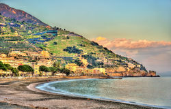 View of Maiori on the Amalfi coast Stock Photos