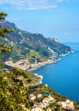 View of Maiori from Ravello - the Amalfi Coast. Italy Stock Photography