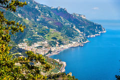 View of Maiori town on the Amalfi Coast. Italy Royalty Free Stock Image
