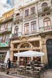 View of the Majestic cafe (coffee shop) facade  in  Porto Stock Images