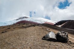 View of the majestic Cotopaxi volcano Royalty Free Stock Photos