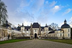View of majestic french castle in Tanlay, Burgundy, France Stock Photo