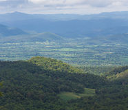 View of the majestic layer mountains on thailand Royalty Free Stock Image