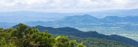 View of the majestic layer mountains on thailand Royalty Free Stock Photos