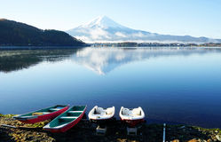 View of the majestic mount Fuji in Japan Royalty Free Stock Images