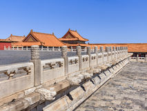 View on majestic pavilion, Palace Museum, Beijing, China Royalty Free Stock Photos